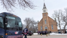 Funeral for Adam Herold in Montmartre, Sask.