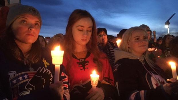 Airdrie - Humboldt Broncos vigil