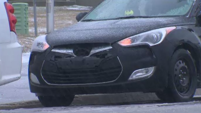 Two cars collided in Kitchener Saturday afternoon