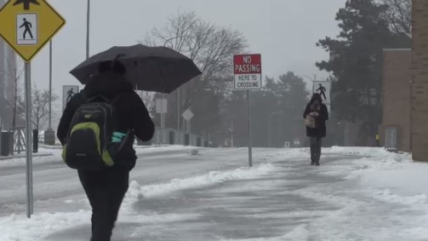 Winter-like storm causes school closures, thousand