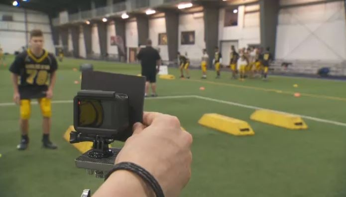 Each player is analyzed to break apart their game and improve technique – including footwork, speed, and tackling. A series of cameras and motion capture records everything, and the footage will be analyzed by experts in biomechanics. (CTV Montreal)