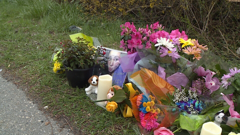 There's a growing memorial on Lougheed Highway near the spot where Maple Ridge mother Tassis Vix was struck and killed.