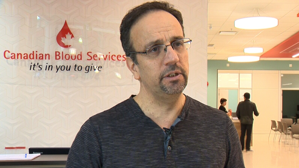 Sam Nammoura, the Syrian-Canadian co-founder of Calgary's Syrian Refugee Support Group, speaks with CTV Calgary on April 14, 2018. (CTV Calgary)