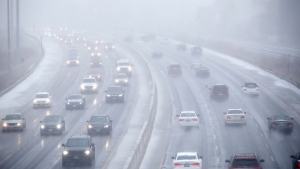 There were more than 550 collisions on Toronto-area highways Saturday as an ice storm pelted southern Ontario,