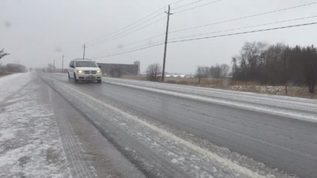 Freezing rain hits Southern Ontario for second day