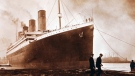 This image made available by the Ulster Folk & Transport Museum on Tuesday, Oct. 14, 2014, is a photograph of the Titanic in Belfast in a family album. (THE CANADIAN PRESS/AP /Ulster Folk & Transport Museum)