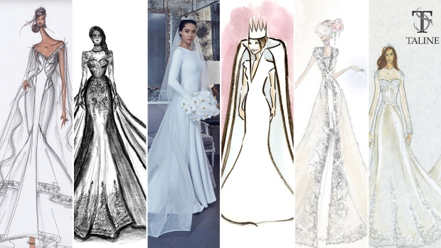 Meghan Markle dress sketches