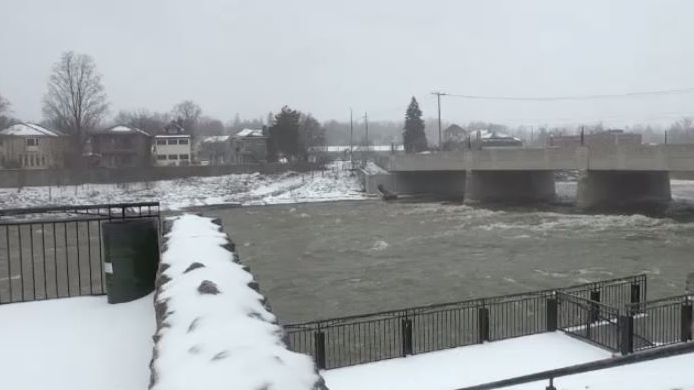 High water levels as a results of the spring storm are seen here in Galt. April 15, 2018.