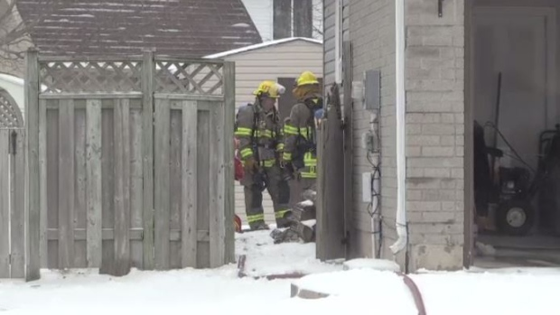Fire breaks out in Kitchener home