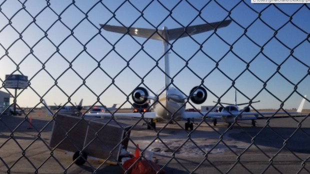 Plane hits other aircraft at Winnipeg airport