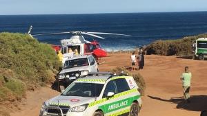 Emergency vehicles in Gracetown, Australia