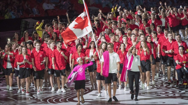 Team Canada at the 2018 Commonwealth Games opener