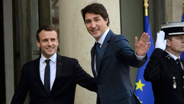 Prime Minister Justin Trudeau in Paris