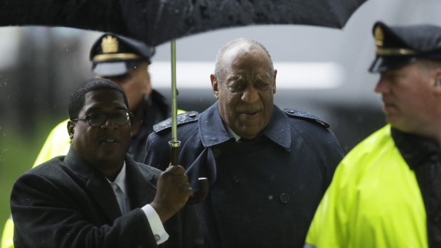 Bill Cosby arrives for his sexual assault trial