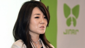 Cho Hyun-min, also known as Emily Cho, in 2014