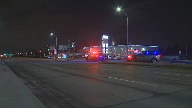 EPS shut down the east bound lanes on Kingsway, after a pedestrian was struck and killed at about 11 p.m. on Sunday, April 15, 2018.