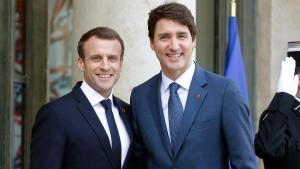 PM Trudeau meets with Emmanuel Macron