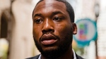 In this Nov. 6, 2017, file photo, rapper Meek Mill arrives at the Criminal Justice Center in Philadelphia. (AP Photo/Matt Rourke, File)
