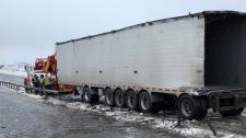 Highway 400 transport truck crash