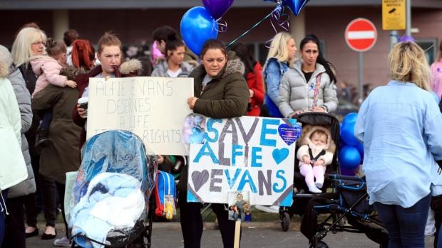 Alfie Evans hospital protesters