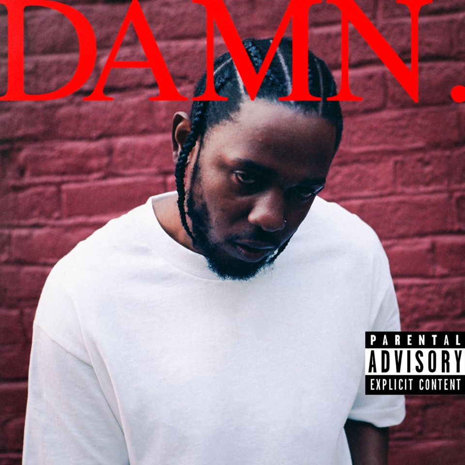 "This cover image released by Interscope Records shows ""Damn."" by Kendrick Lamar.(Interscope Records via AP)"