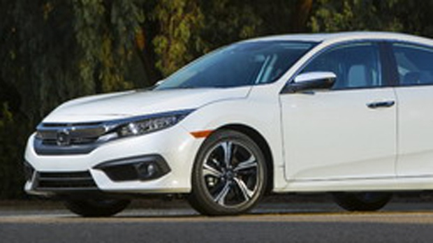 An example of a white 2017 Honda Civic is seen in this image provided by Ridge Meadows RCMP.