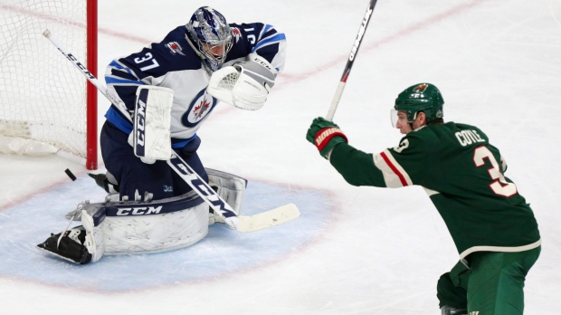 Winnipeg Jets goalie Connor Hellebuyck