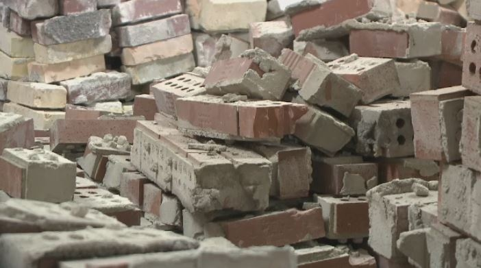 Bricks from the Weston's Bakeries building are up for sale.