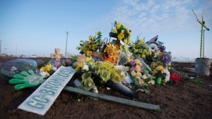 Memorial for Humboldt Broncos crash victims