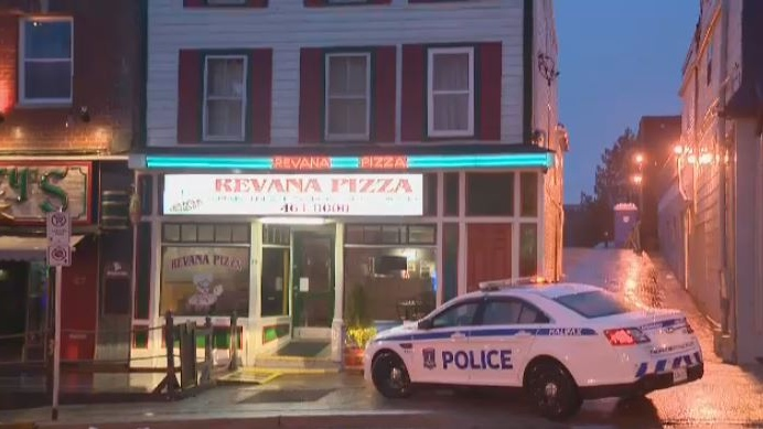 Halifax Regional Police respond to a suspicious death at an apartment in Dartmouth on April 17, 2018.
