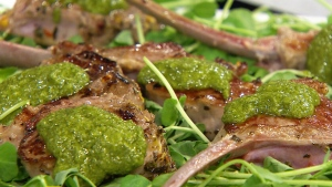 Nigella Lawson's spicy mint lamb chops