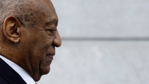 Bill Cosby arrives for his sexual assault trial at the Montgomery County Courthouse in Norristown, Pa. on Tuesday, April 17, 2018. (AP Photo/Matt Slocum)