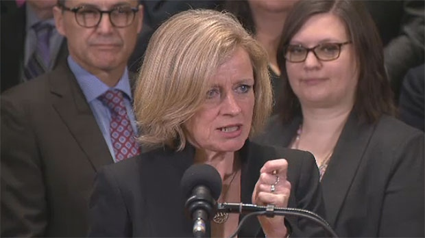 Premier Rachel Notley was in Edmonton on Monday and talked about new legislation that would give Alberta the power to control oil and gas resources.