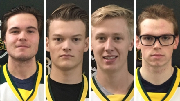 Thousands are expected to pay tribute to Jaxon Joseph, Logan Hunter, Stephen Wack and Parker Tobin at a Celebration of Life at Rogers Place on Tuesday, April 17, 2018.