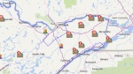 Hydro One Outages Map