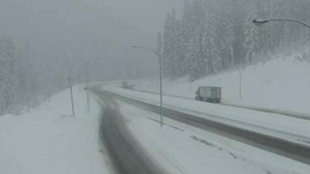 Coquihalla Highway snow