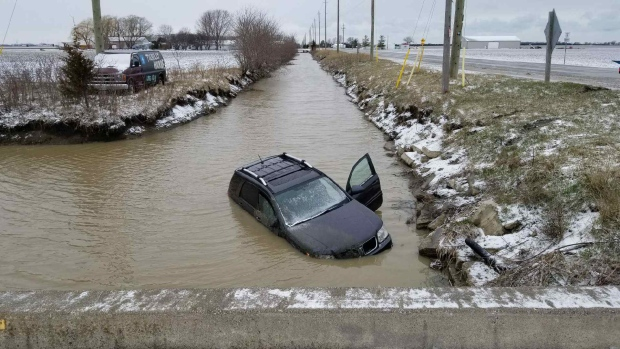 Crash lakeshore