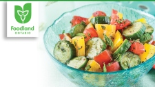 Turkish Tomato, Cucumber and Pepper Salad
