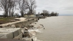 The view from a breakwall near Cotterie Park Road in Leamington, Ont., on Monday, April 16, 2018. (Melanie Borrelli / CTV Windsor)