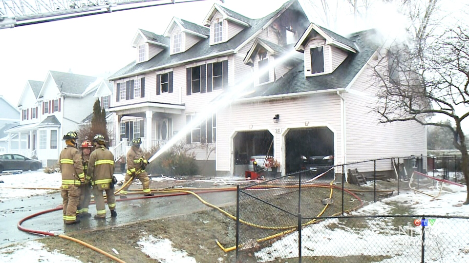 A power surge caused a house fire in Stittsville that injured two fire fighters, one in serious but stable condition, on Monday, Aor. 16, 2018.