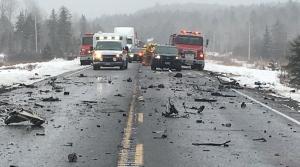 Hwy 17 crash near Hagar, east of Sudbury