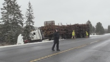 A log truck was involved in fatal Hwy 17 crash