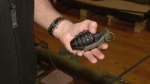 It's not every day you find a grenade in your garden, but that's exactly what happened to an unsuspecting Halifax couple.