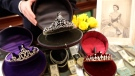 In this photo taken on Thursday, April 5, 2018 diamond tiaras are displayed at Bradley & Skinner an antique & period jewellery specialist in London. (AP Photo/Kirsty Wigglesworth)