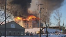 Propane tanks explode at construction-site fire