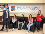 Student journalists at Steam city media