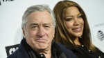 """Tribeca Film Festival co-founder Robert De Niro and wife Grace Hightower attend the Tribeca Film Festival opening night world premiere of """"Love, Gilda"""" at the Beacon Theatre in New York on Wednesday, April 18, 2018. (Evan Agostini/Invision)"""