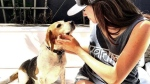 Celebrity Meghan Markle is seen with her rescue dog Guy in an undated file photo. (HANDOUT/Instagram)