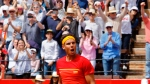 In this Sunday, April 8, 2018 file photo Spain's Rafael Nadal reacts after defeating Germany's Alexander Zverev 6-1, 6-4, 6-4 during a World Group Quarter final Davis Cup tennis match between Spain and Germany at the bullring in Valencia, Spain. (AP Photo/Alberto Saiz, File)