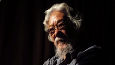 Scientist, environmentalist and broadcaster David Suzuki is pictured in a Toronto hotel room, on Monday November 11 , 2016. THE CANADIAN PRESS/Chris Young